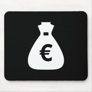 お金はピクトグラムのマウスパッドを袋に入れます マウスパッド