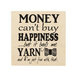 お金は幸福を買うことができません-技術部屋にまいはだを詰めて下さい ウッドウォールアート