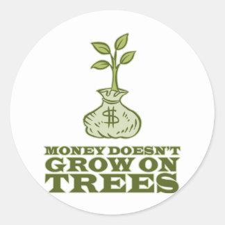 お金は木で育ちません ラウンドシール