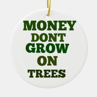 お金は木の引用文で育ちません セラミックオーナメント