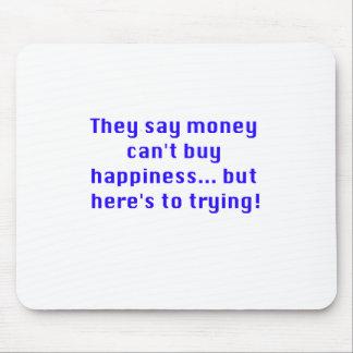 お金は黒い紫系統を試みる幸福を買うことができません マウスパッド