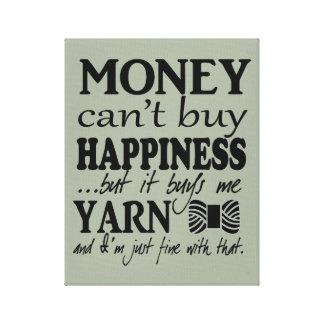 お金は-技術かヤーン幸福を買うことができません キャンバスプリント