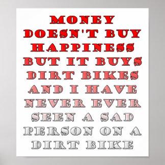 お金はDirtbikesのおもしろいなポスターを買います ポスター
