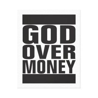 お金上の神 キャンバスプリント