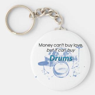 お金及びドラム キーホルダー