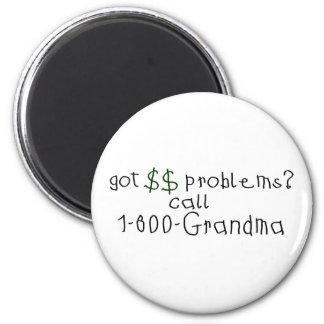 お金問題呼出し祖母 マグネット