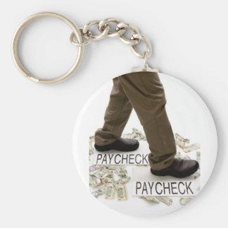 お金、お金、ペイチェックへの生存ペイチェック キーホルダー