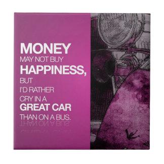 お金、幸福、素晴らしい車 タイル