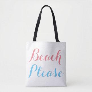 お願いしますビーチ トートバッグ