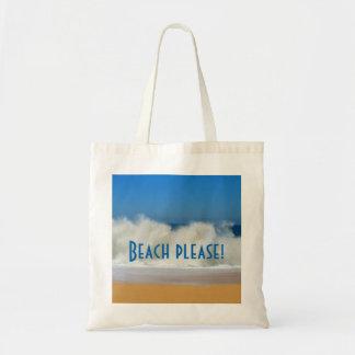 お願いしますビーチ! 衝突の波を使って トートバッグ