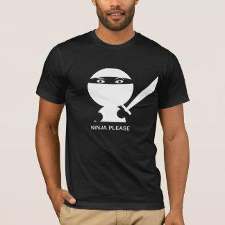 お願いします忍者 Tシャツ