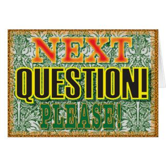 お願いします次の質問! カード