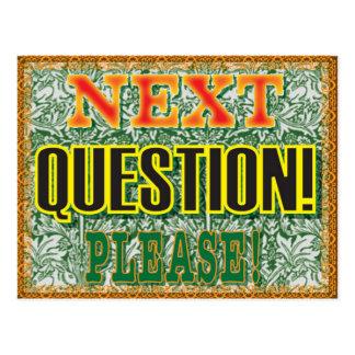 お願いします次の質問! ポストカード