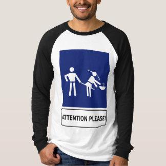お願いします注意 Tシャツ