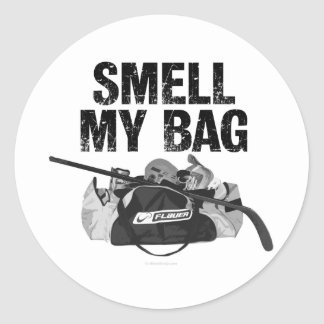 かいで下さい私のバッグ(ホッケーの悪臭)を ラウンドシール