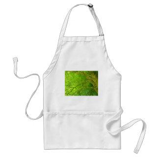 かいま見る太陽が付いている鮮やかな緑の木 スタンダードエプロン