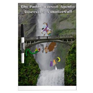 かい森林代理店は滝を発見します ホワイトボード