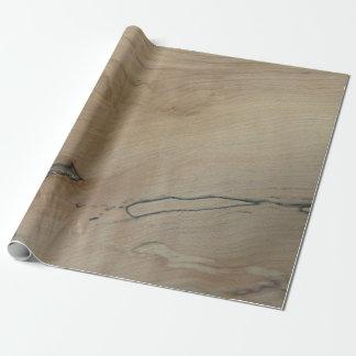 """かえでの木製のプリントの包装紙、30"""" x 6' ラッピングペーパー"""