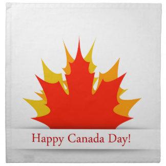 かえでの葉が付いている幸せなカナダ日カード ナプキンクロス