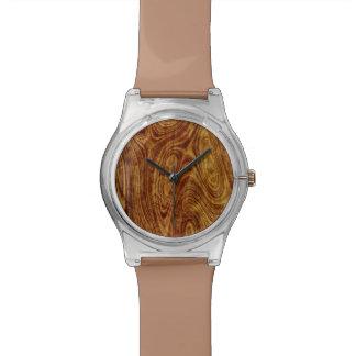 かえでのBurlwoodの自然の木木効果 腕時計