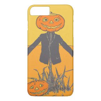 かかしのジャック微笑の幸せなOのランタン iPhone 8 PLUS/7 PLUSケース