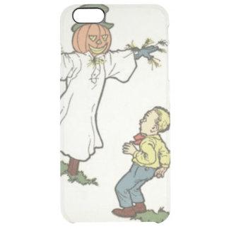 かかしのジャックOのランタンによっておびえさせている男の子 クリア iPhone 6 PLUSケース