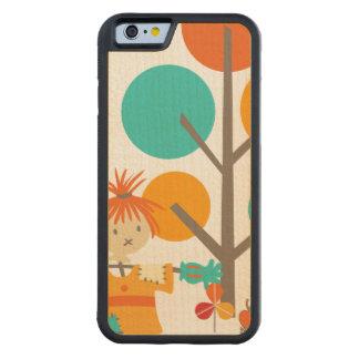 かかしの葉および木 CarvedメープルiPhone 6バンパーケース