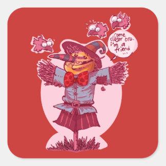 かかしは友情メッセージの漫画を与えます スクエアシール