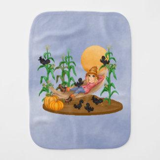 かかし及びカラスのハンモックの秋のトウモロコシ畑 バープクロス