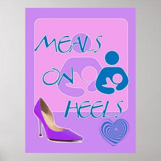 かかとの食事! 母乳で育てるデザイン ポスター