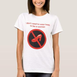 かかとのTシャツへのいいえ Tシャツ