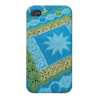 かぎ針編みのアフガニスタンパターンとのiphone 4ケース iPhone 4 cover