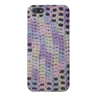 かぎ針編みのハートのiPhoneの場合(パステル調の数々の) iPhone 5 ケース