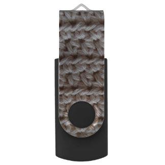 かぎ針編みの綿繊維-ベージュ色 USBフラッシュドライブ