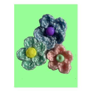 かぎ針編みの花Haekel Blumen ポストカード