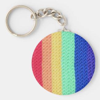 かぎ針編みの虹のkeychain キーホルダー