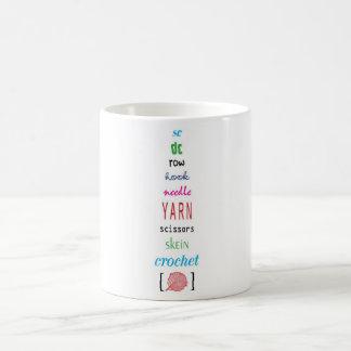 かぎ針編みの言葉 コーヒーマグカップ