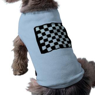 かぎ針編みの、チェック模様のスタイルの犬Cltothing 犬用袖なしタンクトップ