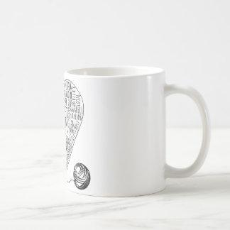 かぎ針編みはマグを言い表わします コーヒーマグカップ