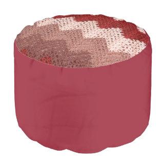 かぎ針編みシェブロン プーフ
