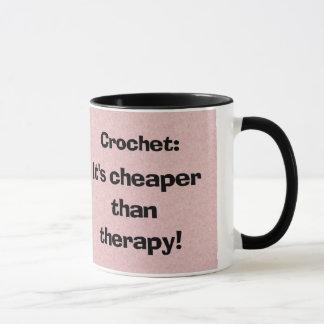 かぎ針編み: セラピーのコーヒー・マグより安い マグカップ