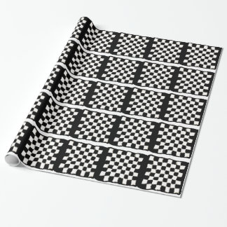 かぎ針編み、チェック模様のスタイルが付いている包装紙 ラッピングペーパー