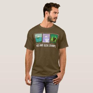 かくれんぼは大きい足、雪男、Nessieに挑みます Tシャツ