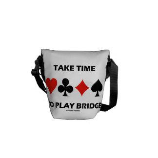かけて下さい橋(4つのカードのスーツ)を遊ぶのに時間を メッセンジャーバッグ
