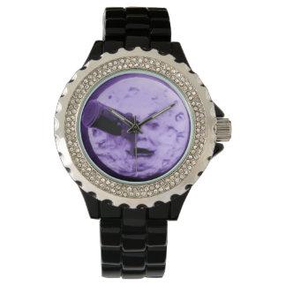 かすむ月のヴィンテージ映画紫色への旅行 腕時計