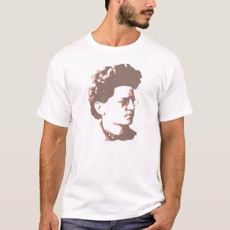 かすんでいる暗灰色および柿Trotsky Tシャツ