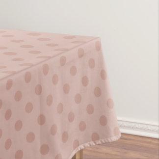 かすんでいる暗灰色かばら色の水玉模様のテーブルクロス テーブルクロス
