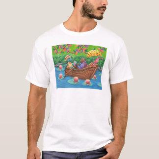 かたつむりのボートの乗車 Tシャツ