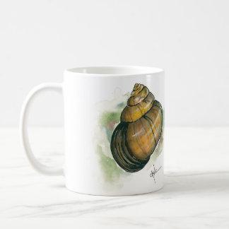 かたつむりの国内戦線および背部水彩画 コーヒーマグカップ