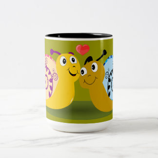 かたつむり ツートーンマグカップ